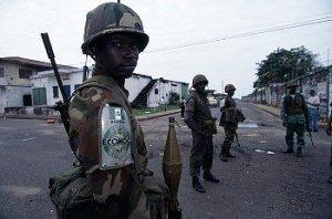 Nigerian ECOMOG soldiers