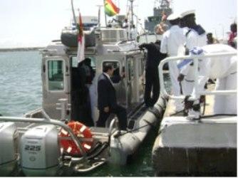 Ghana Navy RBS Defender boat