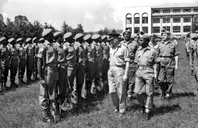 Troops of the Queen's Own Nigerian Regiment in Bukavu, 1961