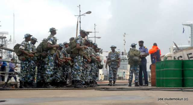 NIGERIAN NAVY SBS COMMANDOS PREPARE FOR A SEA EXERCISE