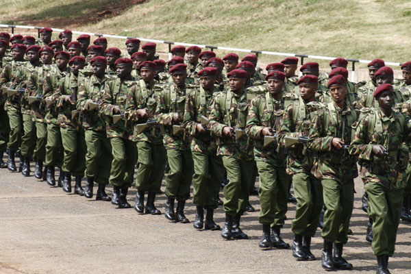 Paramilitary troops of the Kenya Police General Service Unit