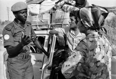 Nigerian officer of UNIFIL in Lebanon, July 1978