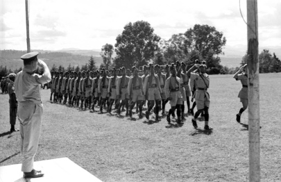 Troops of the Queen's Own Nigerian Regiment in Bukavu, 1961