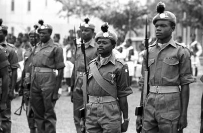 Nigerian ONUC medal parade 1962