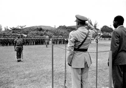 Medal parade, Leopolodville, 25 August 1962
