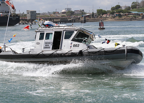 RBS Defender boat of the Tanzania Naval Command