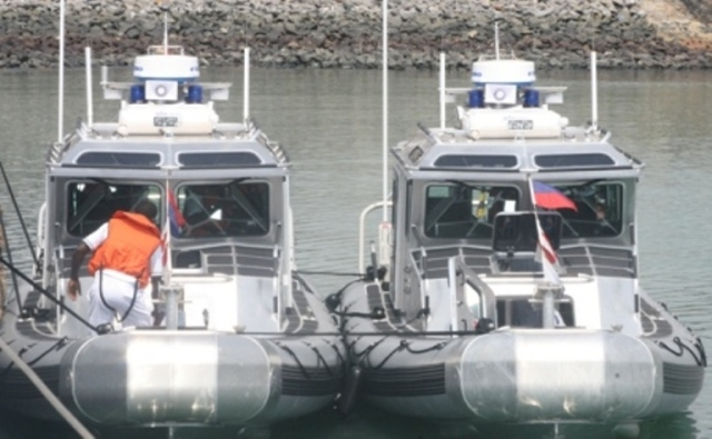 Togolese Navy RBS Defender boats. Two units were present to the Togolese Navy
