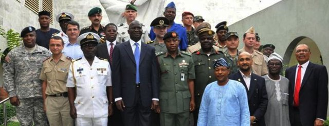 Governor Fashola of Lagos State with defence attaches
