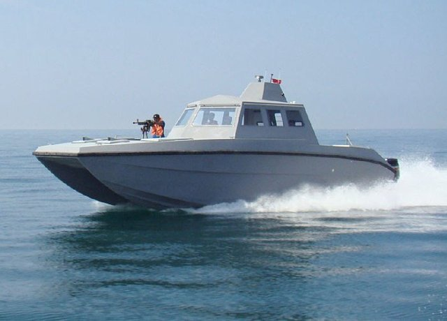 Photo (not Nigerian Navy's) of the X-38 Combat Catamaran