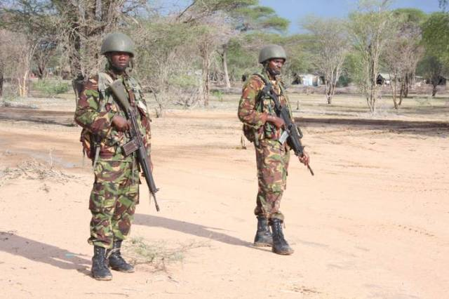 Kenya Army troops in Somalia