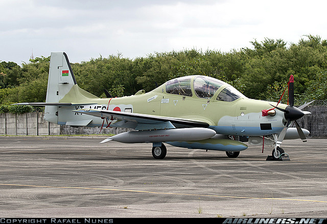 Burkinabe Air Force EMB 314 Super Tucano - three units delivered in 2011