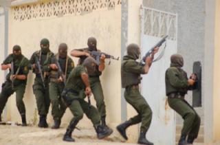 Algerian gendarmes on counterterrorism operations