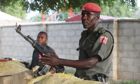 Red beret of the Nigeria Police Anti Terrorism Squad