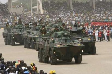 Ghana Army Ratel ICV-90 armoured vehicles