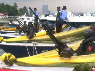6 gunboats of the Lagos State Police Command Marine Unit - donated by the Lagos State Govt,May 2011