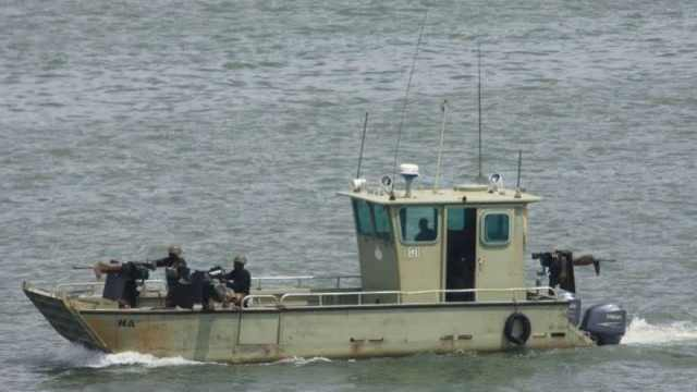 Amphibious troops of the Joint Task Force on patrol in the Niger Delta