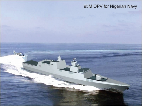Artist's impression of the 95m OPVs to be built in China