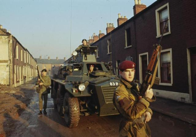 British Saracen APC in Northern Ireland