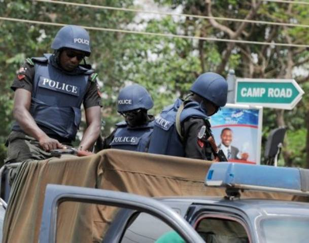 Men of the Nigeria Police Mobile Force(MOPOL)