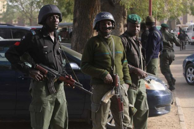 Men of the Police Mobile Force(MOPOL) on counterterrorism operations in Kano