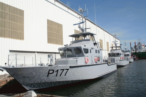 OCEA-built 24m Coastal Patrol Craft of the Nigerian Navy in France