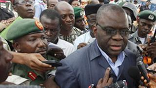 General(rtd) Andrew Azazi(besectacled), Nigeria's National Security Adviser
