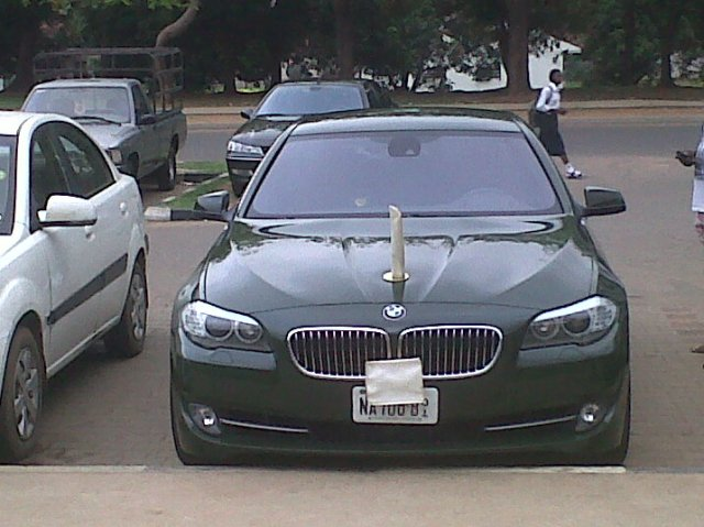 Morale boost: A Nigerian Major General's gleaming BMW staff car