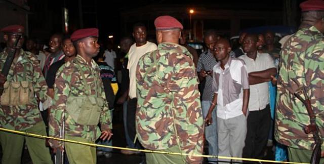 Men of Kenya's paramilitary General Service Unit