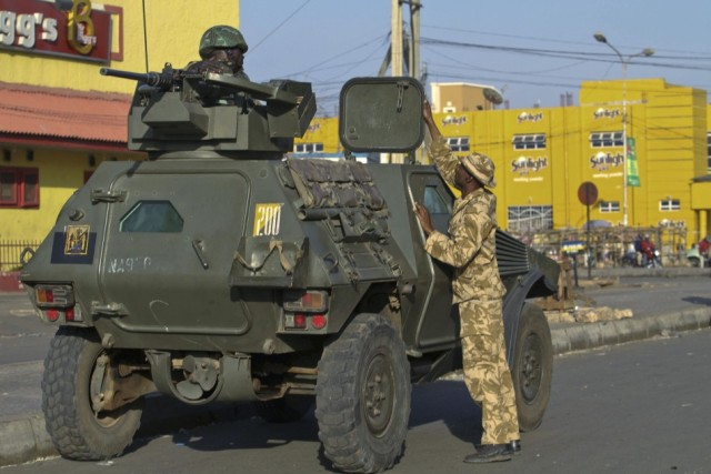 A Panhard VBL M11 of the Special Task Force - OP SAFE HAVEN(Jos Plateau) at the Terminus area of Jos