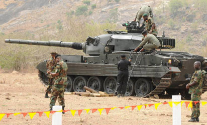 A Vickers Mk.III Eagle tank at the Victor Kure Firing Range,Armoured Corps Centre,Bauchi 17 May 2012