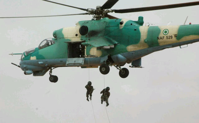 NDA 5th Year cadets rappelling as part of the new 16-week CT-COIN proficiency module, 23 Apr 2012
