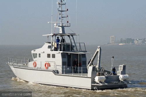 Rear view of the OCEA patrol craft.