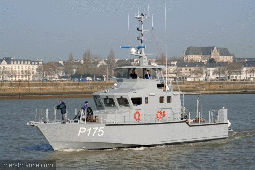 P175, an OCEA 24 metre patrol craft constructed for the Nigerian Navy