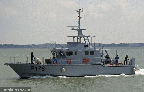 P176,another OCEA 24 metre patrol craft constructed for the Nigerian Navy