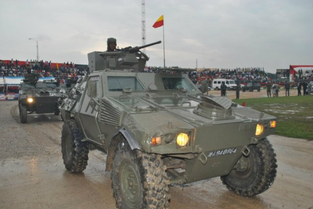 Recently refurbished Panhard VBL M11 recce vehicles