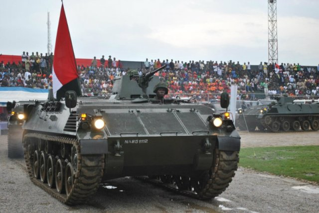 Steyr 4K-7FA G127 tracked APCs of the Nigerian Army - assembled in Nigeria