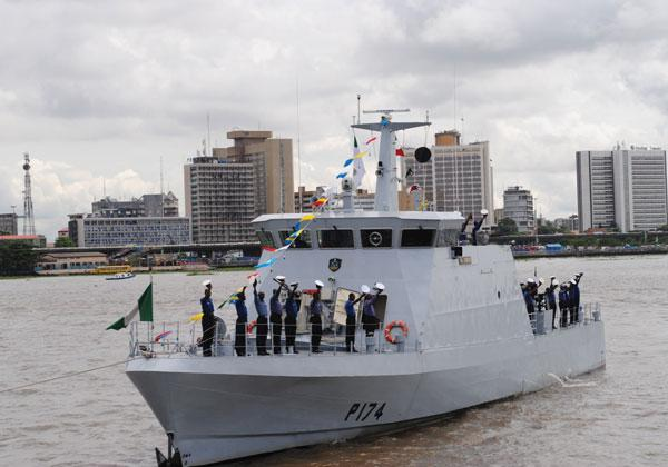 NNS Burutu P174, a 38 metre Suncraft Sea Eagle Offshore Patrol Craft