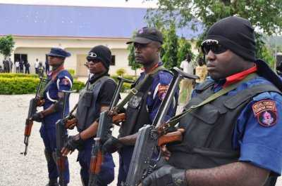 Combative troopers of the Nigeria Security and Civil Defence Corps 'Armed Squad'