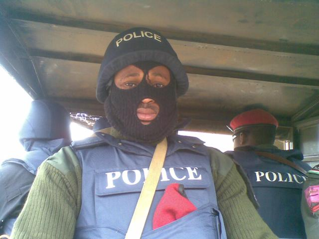 Men of the ATS - Nigeria's Police CTCOIN specialists, on the move