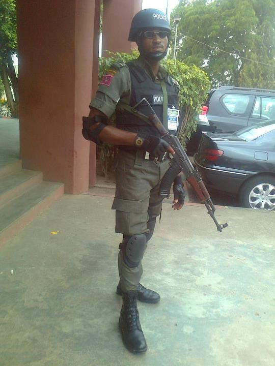 An operative of the Anti Terrorism Squad - Police Special Forces