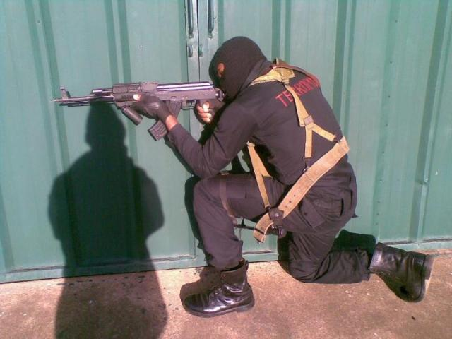 An operative of the Police Special Operations Unit - the Anti Terrorism Squad