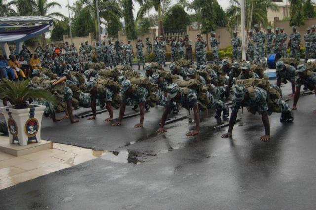 ... PHOTOS: AT THE LAUNCH OF THE NIGERIAN NAVY'S NEW CAMOUFLAGE UNIFORM