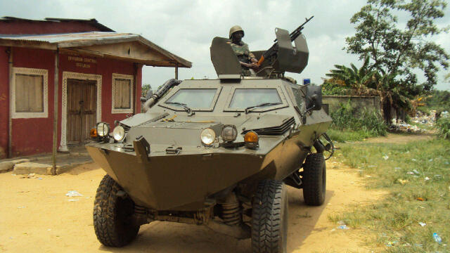 An Otokar Cobra APC of the Nigerian Army
