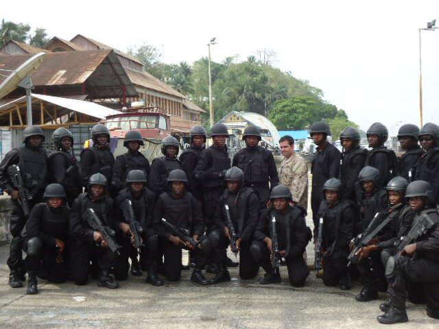 Nigerian Navy Special Boat Service commandos