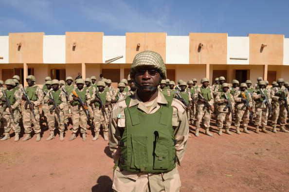 Nigerian troops at Bamako Airport, Mali