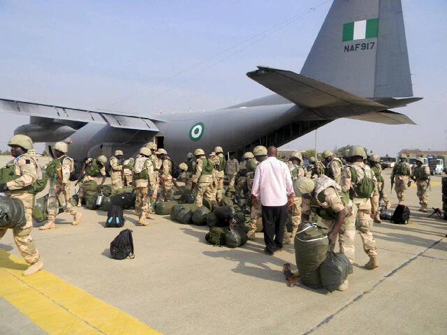 NAF 917 - a Nigerian Air Force C130 Hercules in Kaduna, Nigeria enroute Bamako, Mali