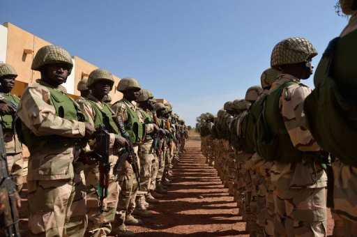 Nigerian soldiers in Bamako