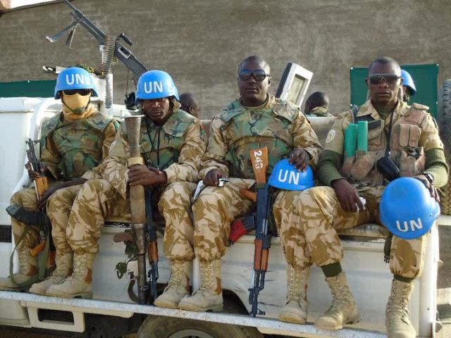 Nigerian UNAMID troops in Darfur, Sudan