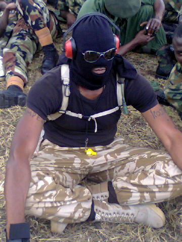 Nigerian Army Special Forces commandos at a training session
