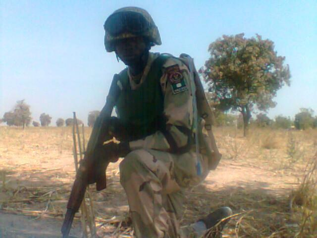 Nigerian Special Forces soldier poses for a shot